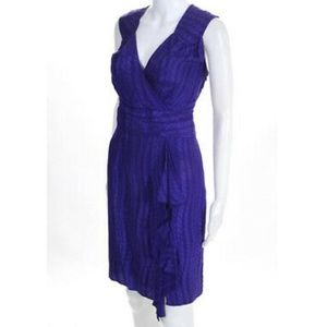 MILLY of NEW YORK Purple Polyester Dress